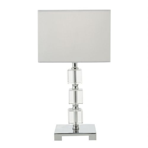 Amria Table Lamp Clear complete with Shade (Class 2 Double Insulated)